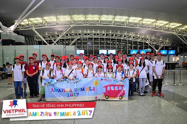 Đoàn học viên VietPhil Camp 2017 đợt 1 lên đường tham gia Trại hè tiếng Anh Philippines