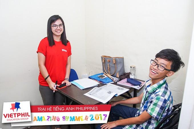 Lớp học 1 kèm 1 – Trại hè tiếng Anh Philippines 2017