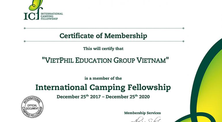 VietPhil Camp trở thành thành viên của Hiệp hội trại hè quốc tế