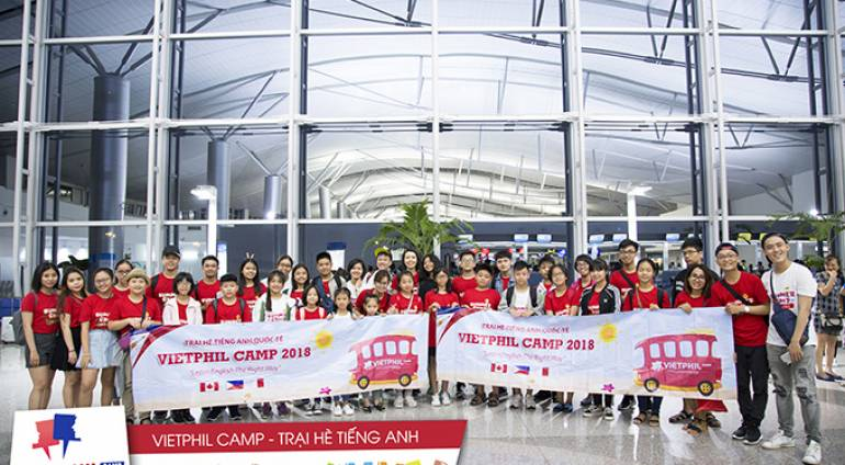 Đoàn học viên VietPhil Camp 2018 đợt 1 lên đường tham gia Trại hè tiếng Anh Philippines