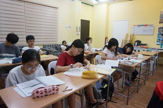 Trai he Tieng Anh VietPhil Camp tai truong EMO - Gio hoc (7)