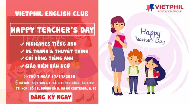 VietPhil English Club tháng 11: Happy Teacher's Day