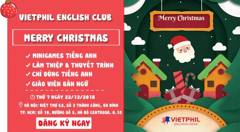 VietPhil English Club tháng 12: Merry Christmas