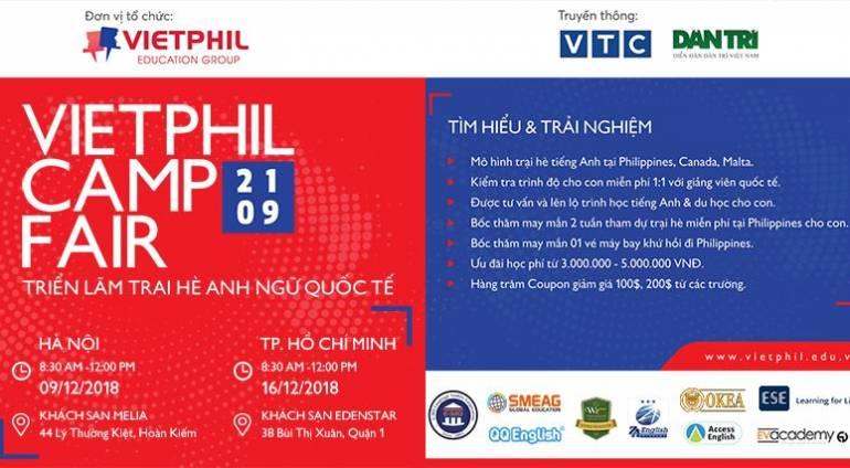 VietPhil Camp Fair 2019 – Triển lãm trại hè Anh ngữ quốc tế 2019