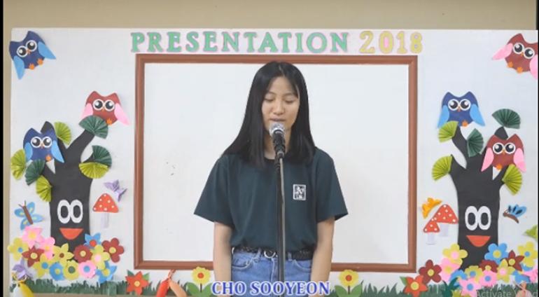 [Anh ngữ PCEA] Speech Contest – Cho Sooyeon