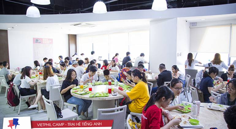 [VIETPHIL CAMP] QQ English IT Park – Nhà ăn