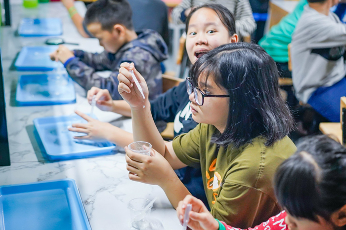 Thực hành hóa học và kỹ thuật tại trại hè Asian 4.0